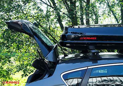 Kamei Corvara S 390 Gloss Black Roof Box No Km534 0