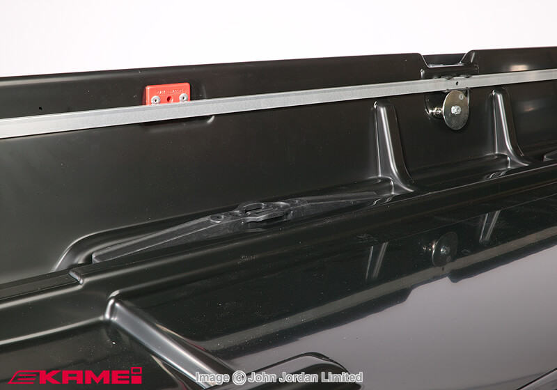 Package deal: KAMEI Husky XXL box, black, (LEFT opening) and bars