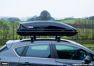 thule pacific 200 roof box black glossy no 631204
