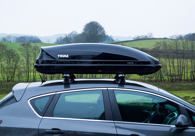 :Thule Pacific 200 roof box, black glossy, no. 631204  - return no. 716