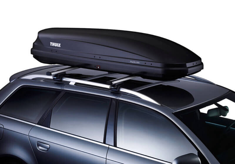 thule pacific 600 roof box black glossy no 6316. Black Bedroom Furniture Sets. Home Design Ideas
