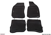 Volkswagen VW Passat estate (2001 to 2005) :Rezaw-Plast floor mats (set of 4), black, no. RZ240101
