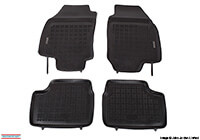 Opel Vectra four door saloon (2002 to 2008) :Rezaw-Plast floor mats (set of 4), black, no. RZ240502