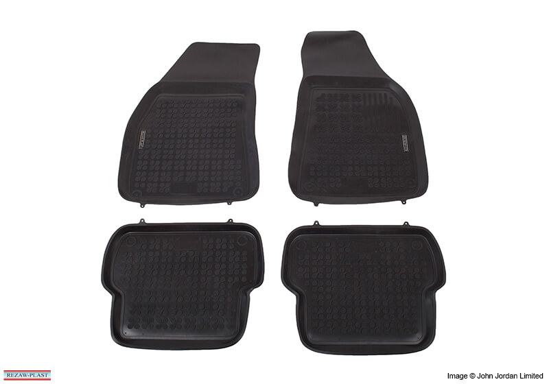 Hyundai i20 five door (2009 to 2015):Rezaw-Plast floor mats (set of 4), black, no. RZ241602