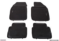 Ford Focus C-Max (2003 to 2010) :Rezaw-Plast floor mats (set of 4), black, no. RZ240612