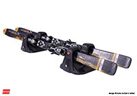 Renault Espace (1998 to 2003) :Fabbri lockable magnetic ski carrier - SKO