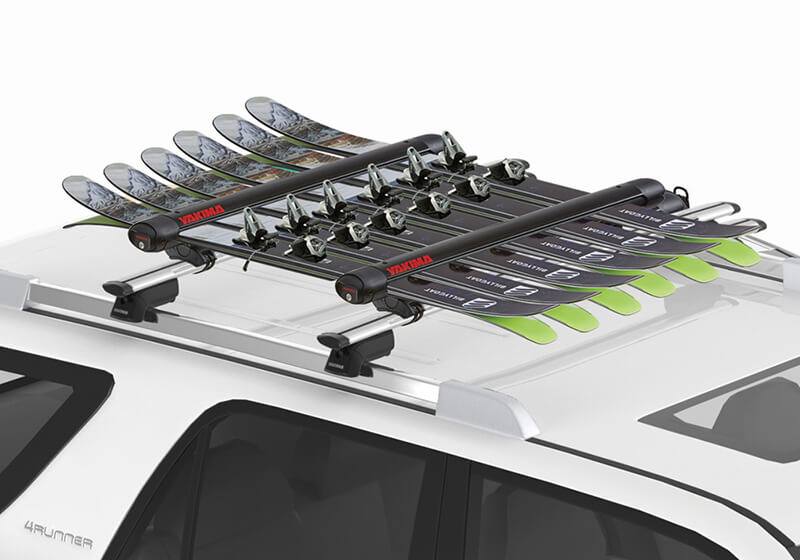 :Yakima FatCat Evo 6 black - ski and board carrier with roof bars