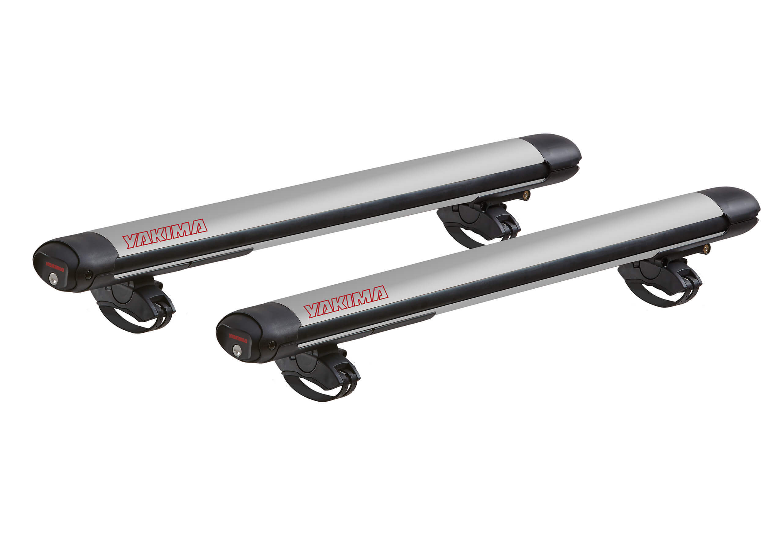 :Yakima FatCat Evo 6 silver- ski and board carrier with roof bars