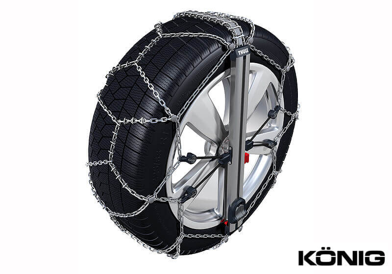 Thule Easy-fit SUV snow chains - tangle free, quick and easy both to fit and remove. Superb!