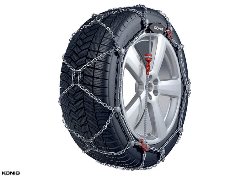Mitsubishi Shogun five door (1992 to 2000):König XG-12 Pro snow chains (pair) no. XG-12 Pro 265
