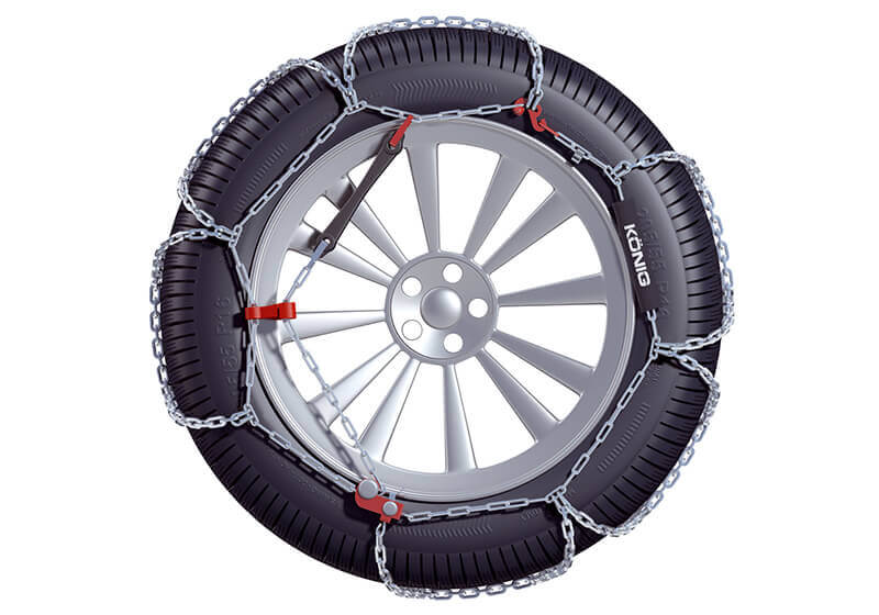 Hyundai Santa Fe (2000 to 2006):König XB-16 snow chains (pair) no. XB-16 247