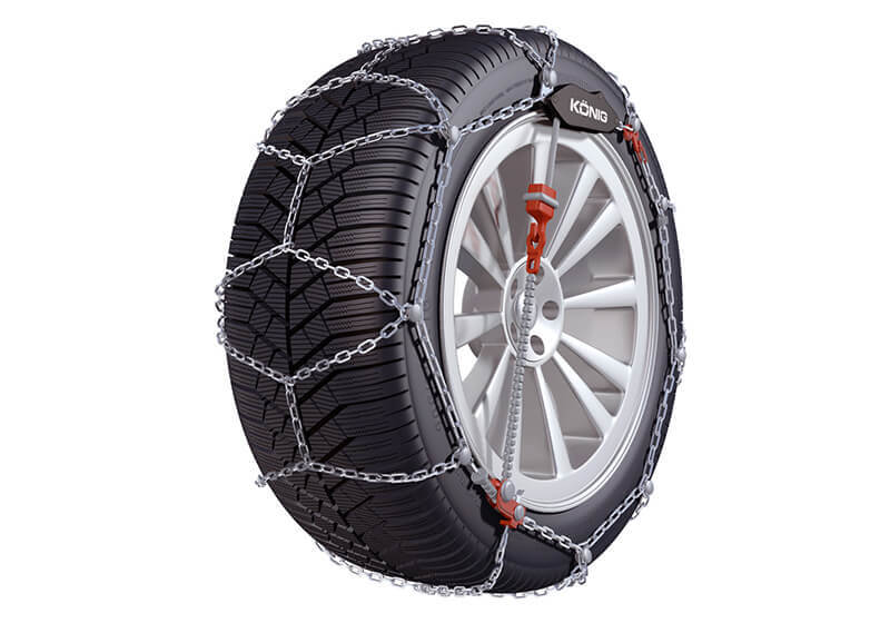 Honda Civic coupe (1996 to 2000):Konig CG-9 snow chains (pair) no. CG-9 050