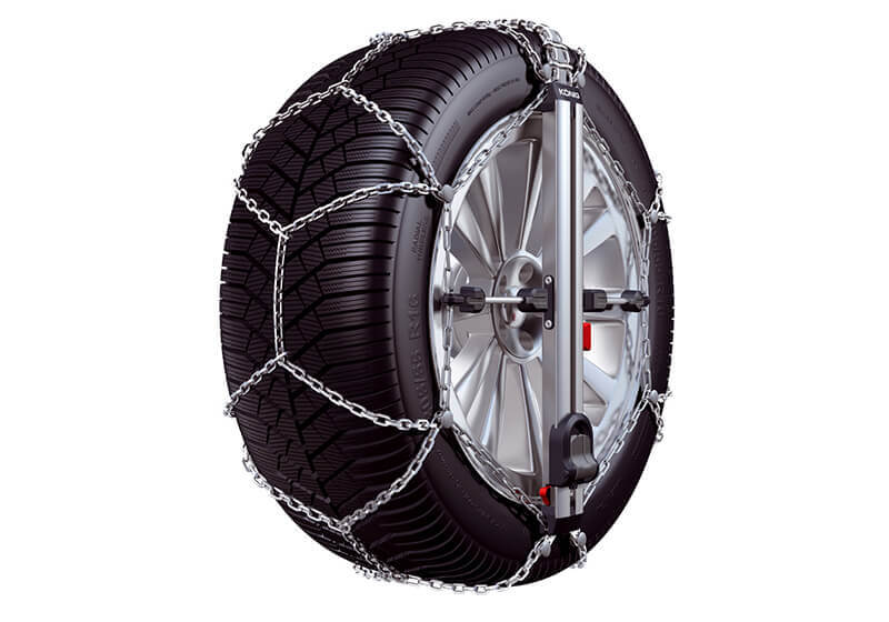 Hyundai i30 five door (2017 onwards):Konig CU-9 Easy-fit snow chains (pair) no. CU-9 080