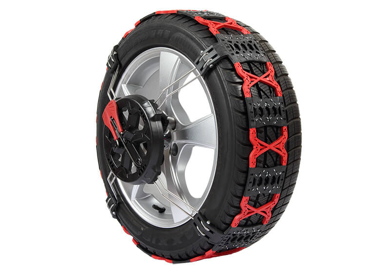 Volkswagen VW Crafter L4 (Long) H3 (Super high roof) (2017 onwards):Polaire GRIP polyurethane front-fitting snow chains size 130