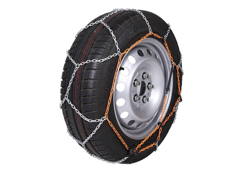 Volkswagen VW Crafter L4 (Long) H3 (Super high roof) (2017 onwards):Polaire XP9 9mm car snow chains (pair) size 130