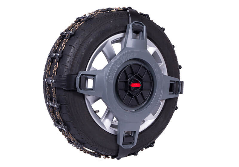 Spikes-Spider snowchains give better protection for alloy rims than any other snow chains.