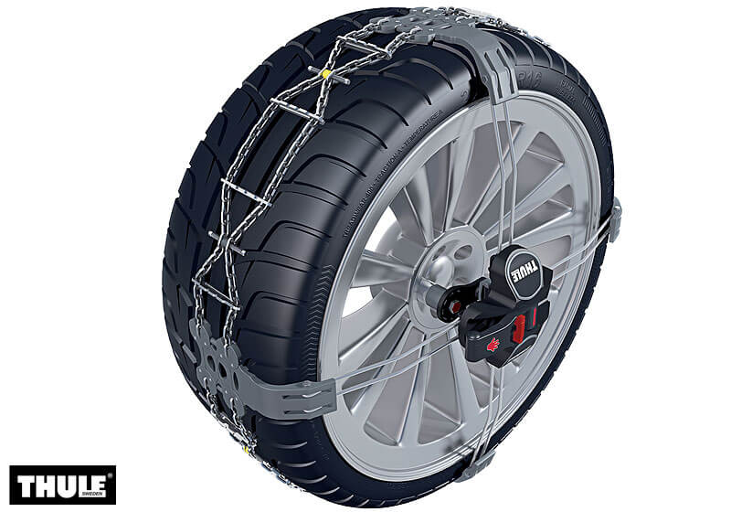 Mitsubishi Colt cabriolet (2006 to 2013):Thule K-Summit snow chains (pair) no. K-Summit 11