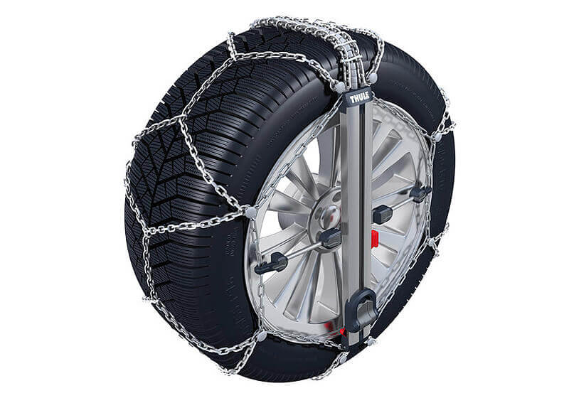 Kia Shuma II four door saloon (2001 to 2004):Thule CU-9 Easy-fit snow chains (pair) no. CU-9 060