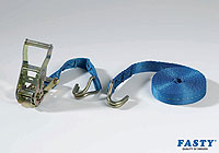 :FASTY Ratchet Turnbuckle with hooks 30 + 470cm blue 1000kg (1 unit bag) no. FS187