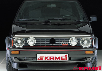 kamei vw golf 2 grille spoiler 2 lights black 44046. Black Bedroom Furniture Sets. Home Design Ideas