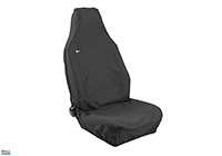 Toyota Yaris three door (1999 to 2006) :Town & Country 3D universal front seat cover (single), black, no. 3DFBLK