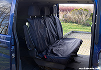 Volvo S80 four door saloon (2006 onwards) :UK Covers waterproof seat covers, nylon - rear seats, black, UKR04