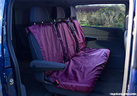 Volvo S80 four door saloon (2006 onwards) :UK Covers waterproof seat covers, nylon - rear seats, burgundy, UKR05