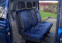 Volvo S80 four door saloon (2006 onwards) :UK Covers waterproof seat covers, nylon - rear seats, navy, UKR01