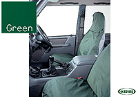 Citroen C1 five door (2005 onwards) :UK Covers waterproof seat covers, nylon - front pair, green, UKF02