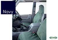 Volkswagen VW Polo three door (2009 onwards) :UK Covers waterproof seat covers, nylon - front pair, navy, UKF01