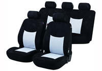 Lancia Delta five door (2008 onwards) :Walser seat covers, full set, Devon black and grey, 11971