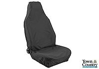 Fiat Punto van (1994 to 1999) :Town & Country 3D universal front seat cover (single), black, no. 3DFBLK