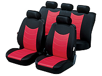 Ford Focus four door saloon (2008 to 2011) :Walser velours car seat covers, Felicia red, 12464