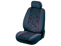 Vauxhall Corsa three door (2001 to 2006) :Walser jacquard car seat covers, Oslo red, 12650