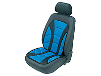 Volkswagen VW Polo three door (2009 onwards) :Walser ALBORETO seat cushion, single, blue, 14168
