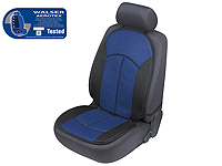 Citroen C6 (2005 onwards) :Walser ZONDA Aerotex seat cushion, single, blue black, 17506