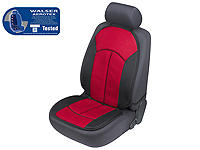 Volkswagen VW Polo three door (2009 onwards) :Walser ZONDA Aerotex seat cushion, single, red black, 17507