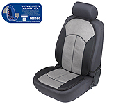 Volkswagen VW Polo three door (2009 onwards) :Walser ZONDA Aerotex seat cushion, single, grey black, 17508