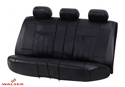 Walser Rear Car Seat Cover Black Leather