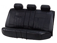 Vauxhall Corsa three door (2001 to 2006) :Walser rear car seat cover black leather - WL19602