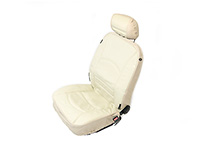 Peugeot 206 SW estate (2002 to 2007) :Walser car front seat cover beige leather (side airbag compatible) - WL19680