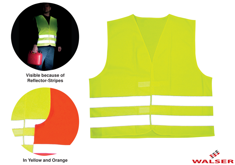 :Walser reflective safety vest, childs' size S, yellow, 43035