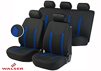 Peugeot 206 SW estate (2002 to 2007) :Walser seat covers, Hastings blue, 11808