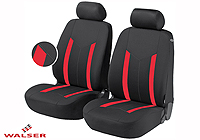 Peugeot 206 SW estate (2002 to 2007) :Walser seat covers, Hastings red, 11809