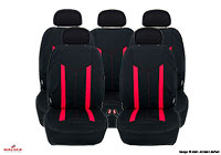 Ford Escort three door (1995 to 1999) :Walser seat covers, Hastings red, 11809