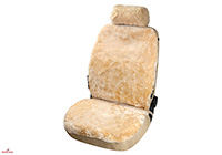 Seat Leon five door (2013 onwards) :Walser car seat cover (1), real sheepskin, beige, 20019