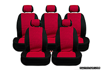 Seat Alhambra (2000 to 2010) :Walser MPV seat covers, UV red, no. 10229