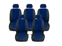 Volkswagen VW Sharan (1995 to 2000) :Walser MPV seat cover set, Kuba blue, no. WL10210, 5 individual seats