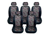 Seat Alhambra (2000 to 2010) :Walser MPV seat cover set, Oslo red, 5 seats, 10220