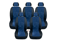 Ford S-Max (2006 to 2015) :Walser MPV seat cover set, Turin navy, no. WL10490T